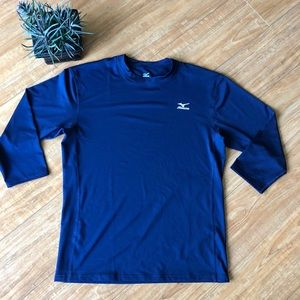 Mizuno 3/4 length DryLite Baseball Shirt